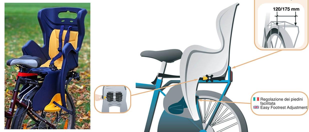 Велокресло на багажник